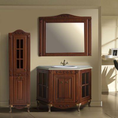 Мебель для ванной коричневая