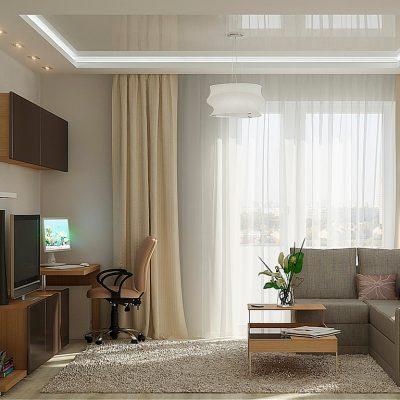 Уютные шторы в интерьере минимализма