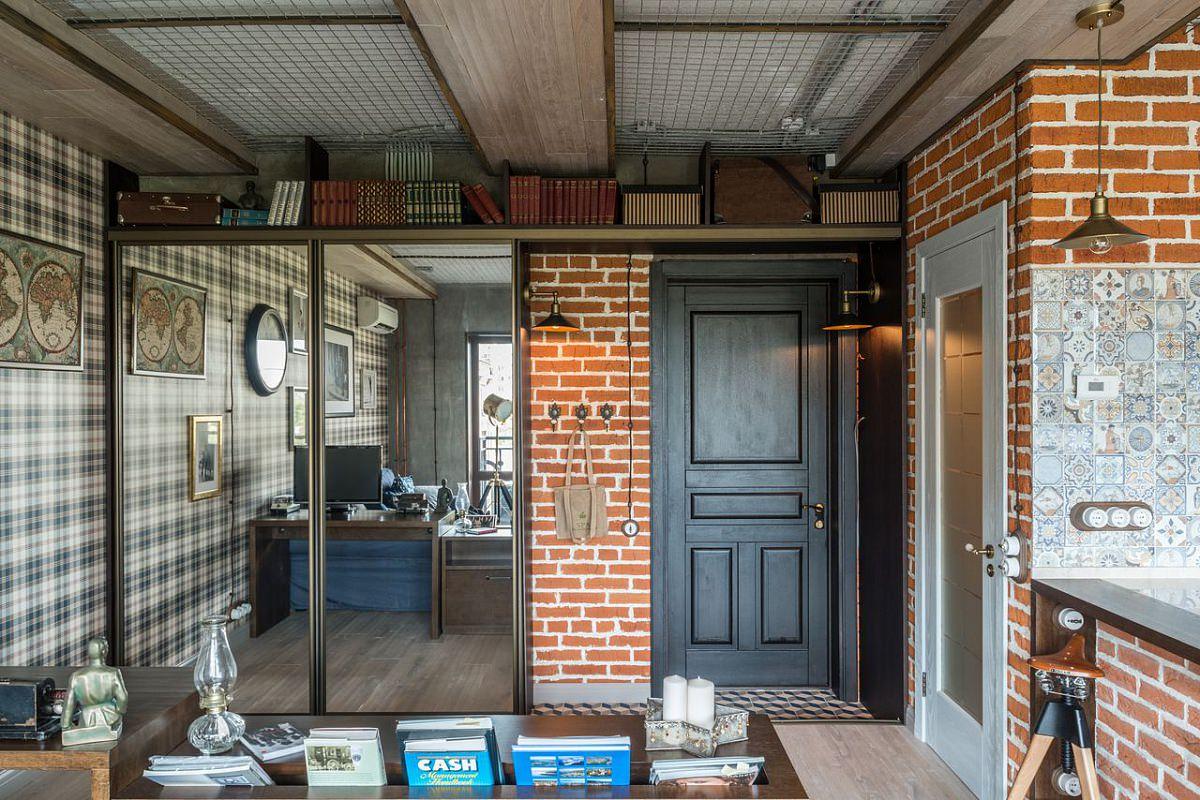 Кабинет в квартире стиля лофт
