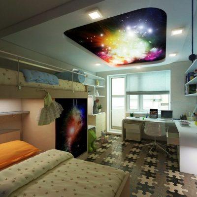 Креативное оформление потолка