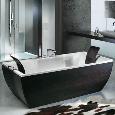 Черный цвет ванной