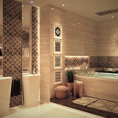 Бежевая ванная