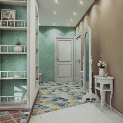 Зеркало прованс стиля в интерьере прохожей