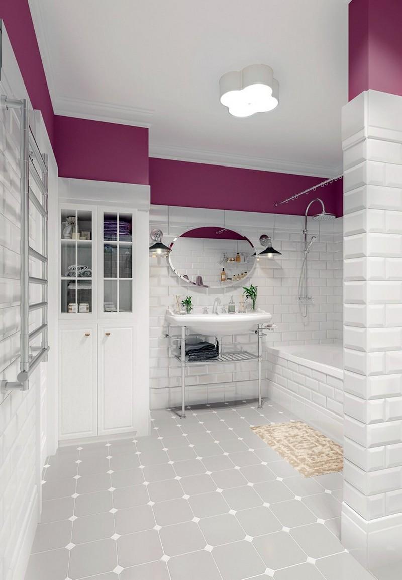 Розовый акцент ванной