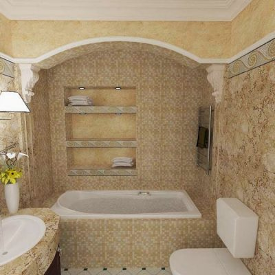 Бежевая ванная прованс