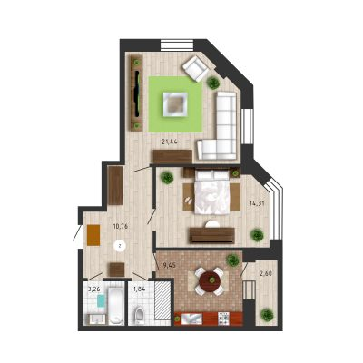 Дизайнерская планировка квартиры
