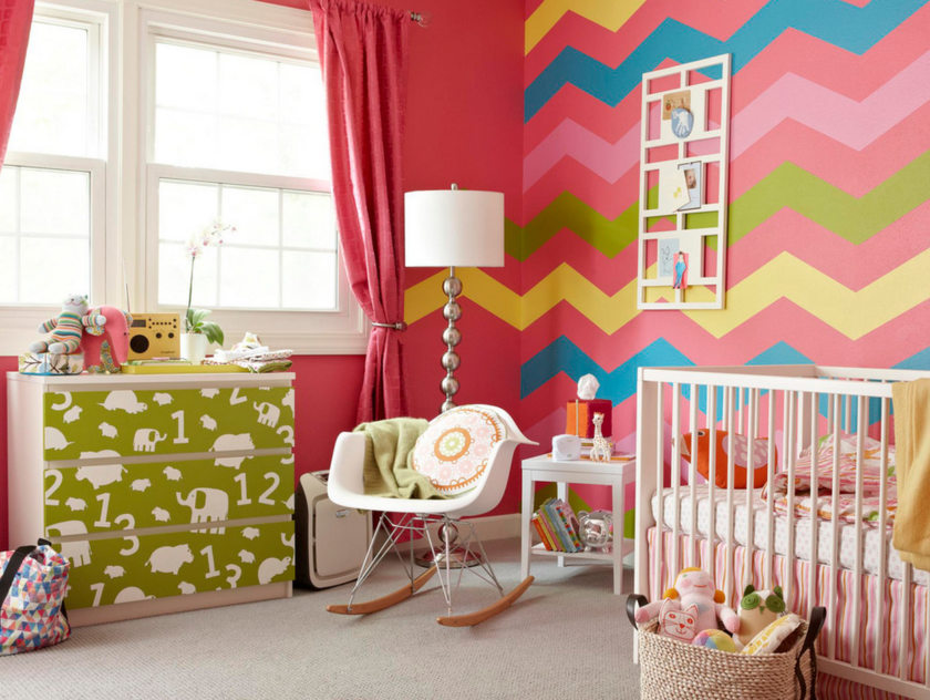 Детская комната для девочки на фото