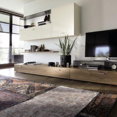 Оформление гостиной комнаты в хай тек стиле