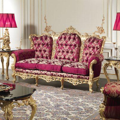 Элегантная мебель розового цвета