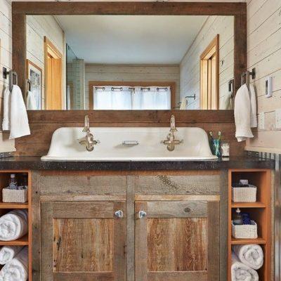 Ванна комната с зеркалом