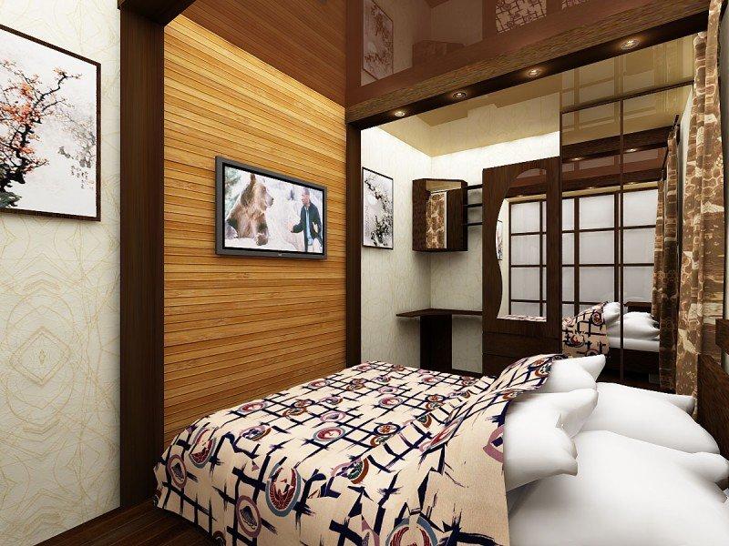 Красивая спальня на фото по стилю