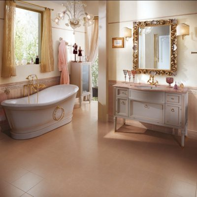 Бежевый прованс в ванной