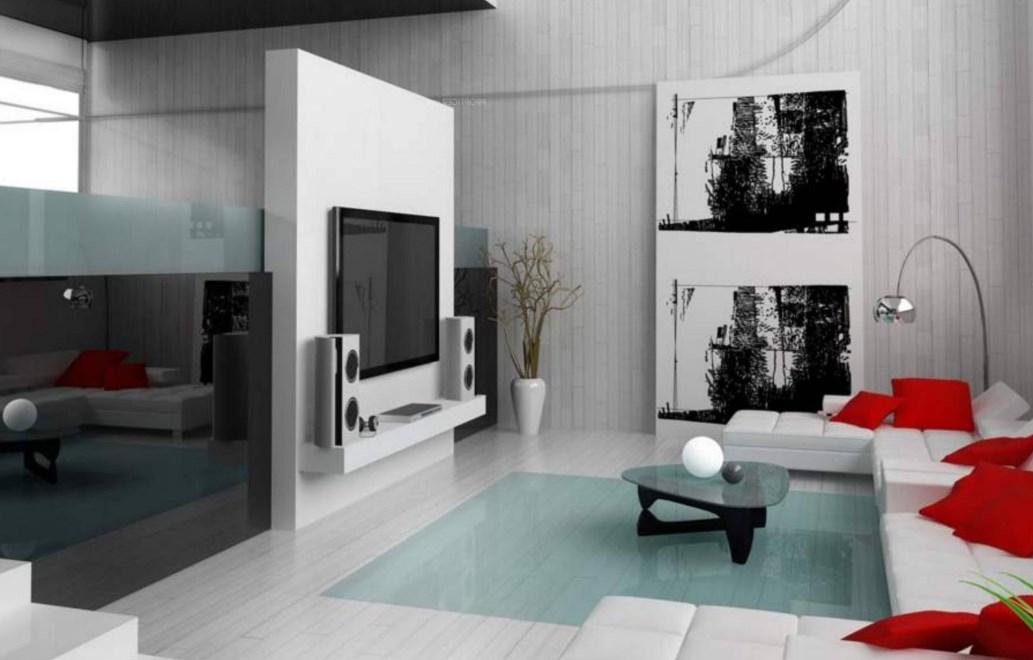 Оформление гостиной комнаты в хай тек стиле в интерьере