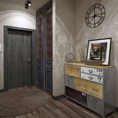 Шкаф в лофт стиле