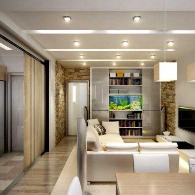 Расположение мебели комнаты от дизайнеров