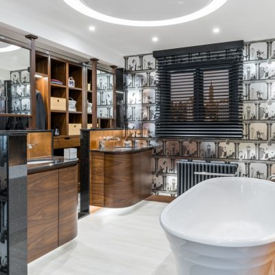 Варианты интерьера ванной арт-деко