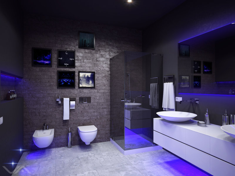 Светодиоидная подсветка ванной
