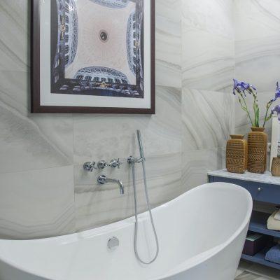 Форма ванной в стиле арт деко