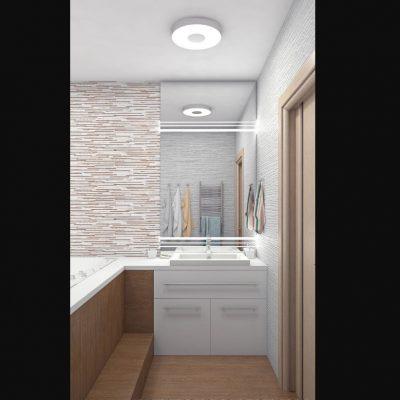 Светлая ванная на фото