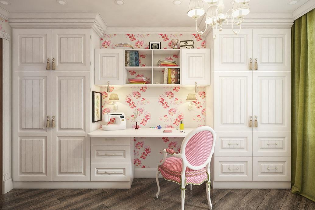 Детская комната для девочки в классическом стиле дизайн