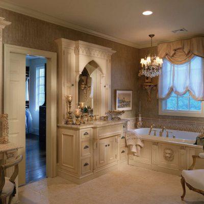 Ванна в стиле барокко на фото пример
