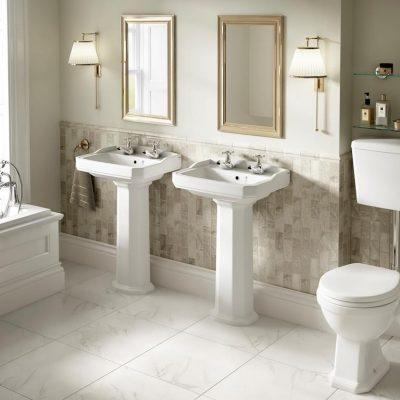 Две раковины ванной