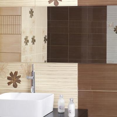 Коричневая отделка ванной