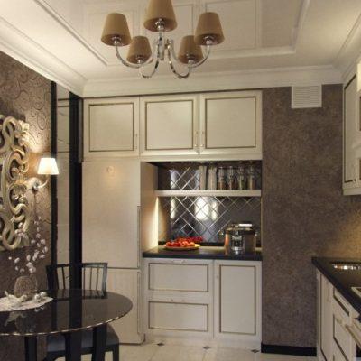 Средних размеров кухня
