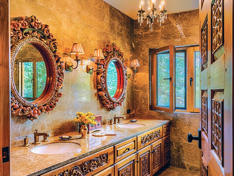 Восточный стиль в интерьере в ванной