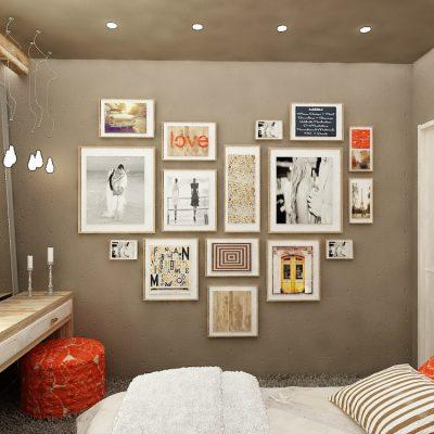 Спальня в интерьере комнаты на фото