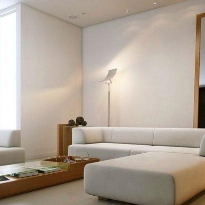 Бежевый оттенок угловой мебели