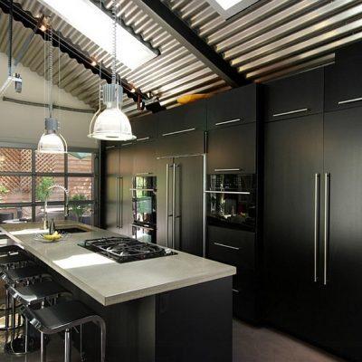 Черный цвет стиля лофта