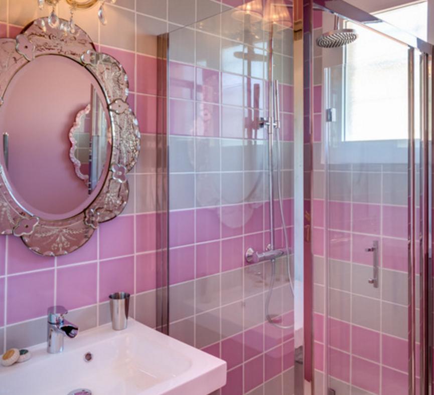розовый интерьер фьюжн