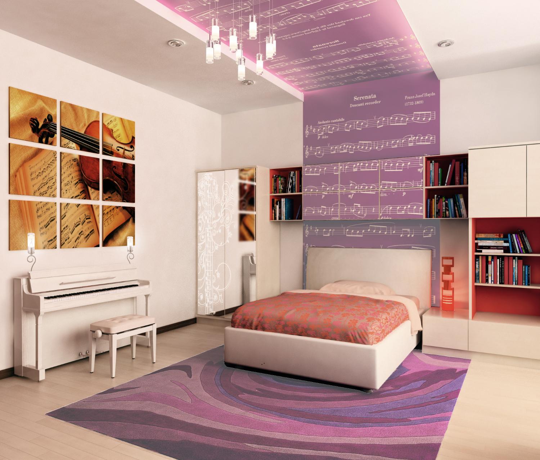 Интерьер комнаты для девушки фото в современном стиле