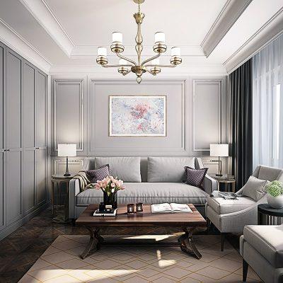 Угловой диван на фото в гостиной