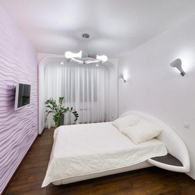 Оформление спальни в стиле хай тека