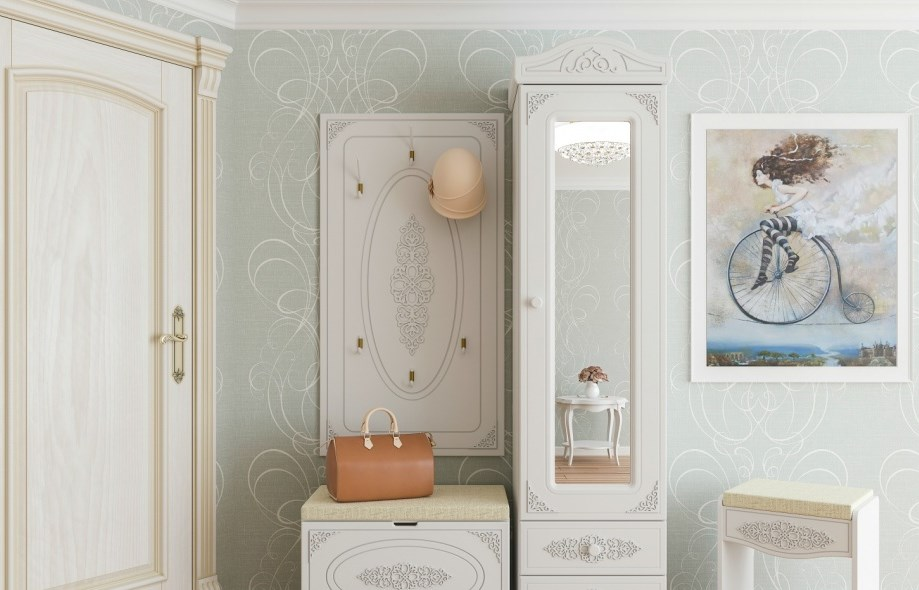 Приожая комната в интерьере прованс стиля на фото