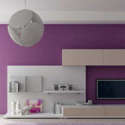 Стенка на фиолетовом фоне