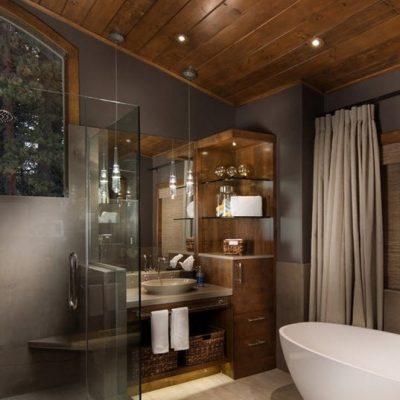 Темная кантри ванная