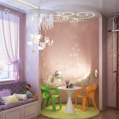Красивая детская комната со стенкой