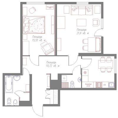 Подробный план квартиры