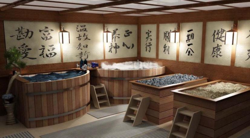 Элементы в японской ванной