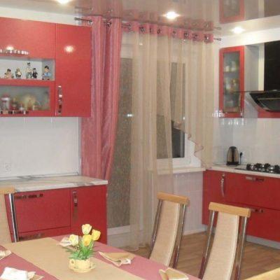 Пример штор для кухни