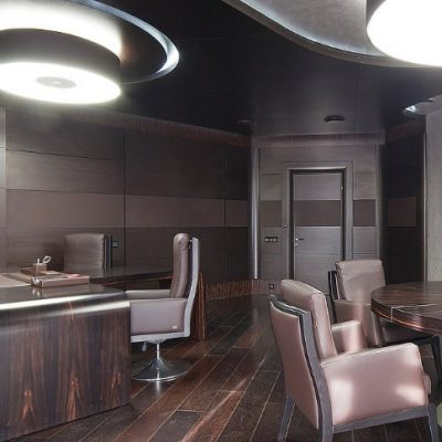 Просторный кабинет руководства стиля лофт