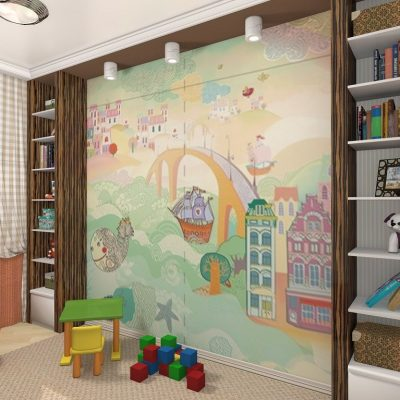 оформление стены в детской