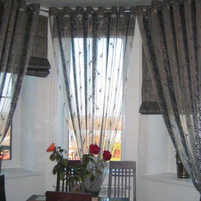 Пример штор для кухни хай тек