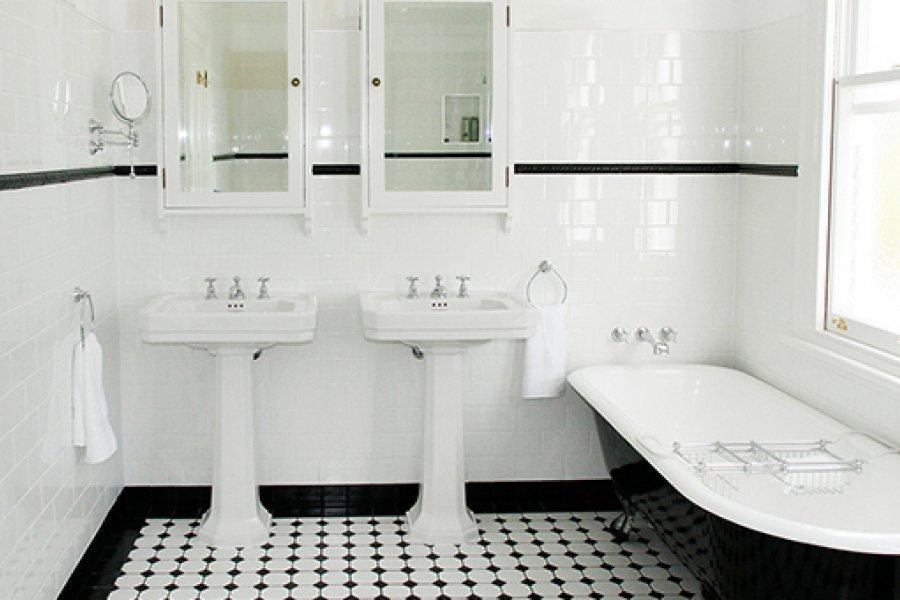 Арт деко стиль ванной