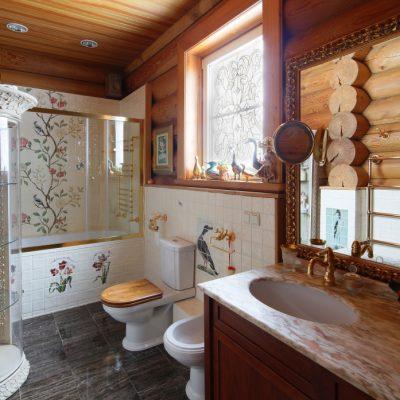 Ванна комната в деревенском стиле