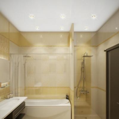 Ванная комната просторная фьюжн стиля