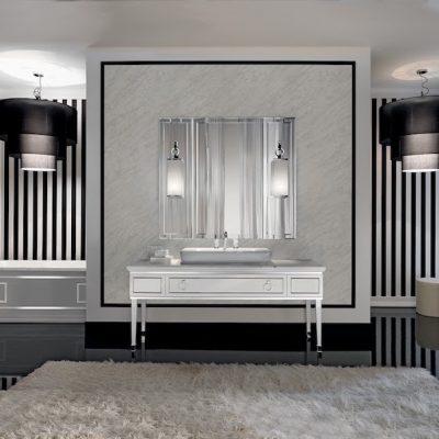 Черно-белая отделка стен